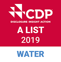 ロゴマーク: CDP A LIST 2019 WATER